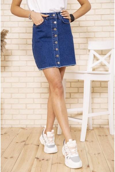 Синяя джинсовая юбка на пуговицах 164R590-1