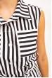 Платье-рубашка жен 102R067-1 цвет Черно-белый цена 799.0000 грн