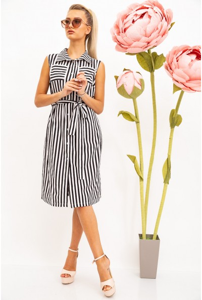 Платье-рубашка жен 102R067-1 цвет Черно-белый