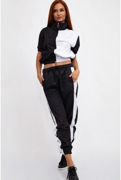 Спортивный, двухцветный, костюм женский, черно-белый 103R2002