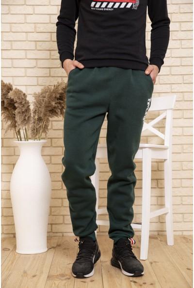 Спортивные штаны мужские на флисе цвет Зеленый 102R162
