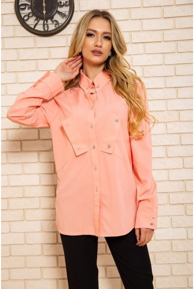 Рубашка женская  102R140 цвет Персиковый