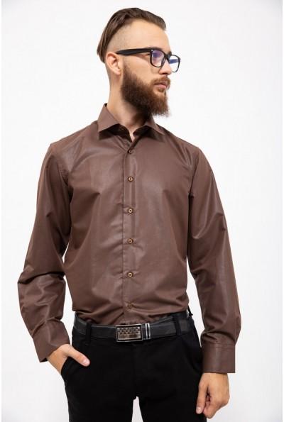 Рубашка мужская 103RMB047 цвет Коричневый