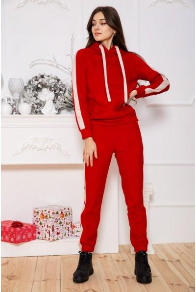 Спортивный костюм женский теплый 119R223 цвет Красный