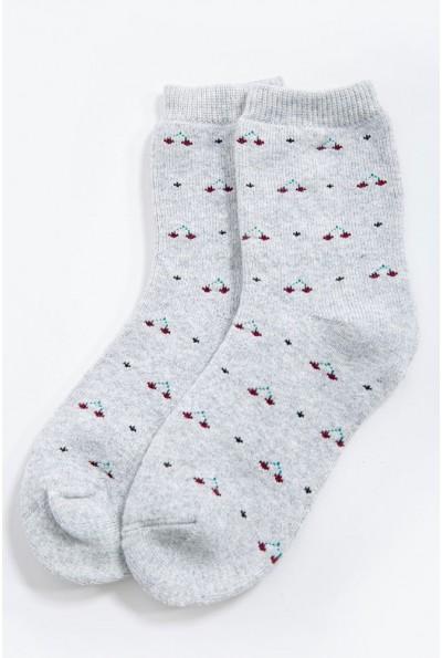 Носки женские теплые, кашемировые 151R6002 цвет Серый