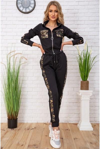 Cпортивный костюм женский с милитари принтом цвет Черный 167R287 57527
