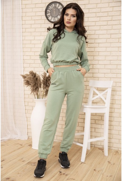 Спортивный костюм женский укороченный цвет Оливковый 104R0034 49277