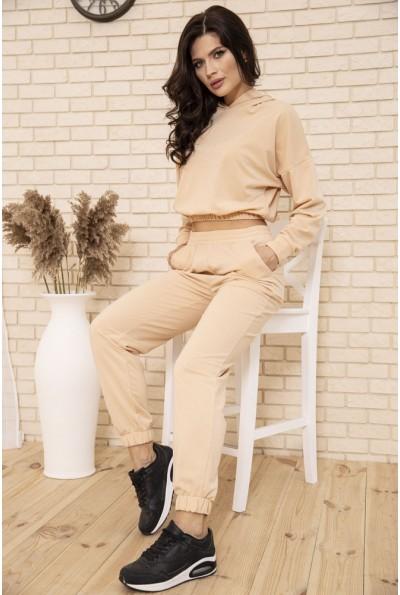 Спортивный костюм женский укороченный цвет Бежевый 104R0034 49275