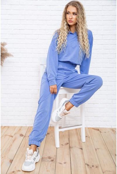 Спортивный костюм женский укороченный цвет Синий 104R0034 49281