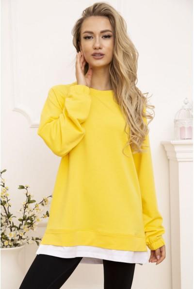 Свитшот женский 102R183 цвет Желтый