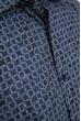 Рубашка мужская, в клетку, сине-серая 0820-1 скидка