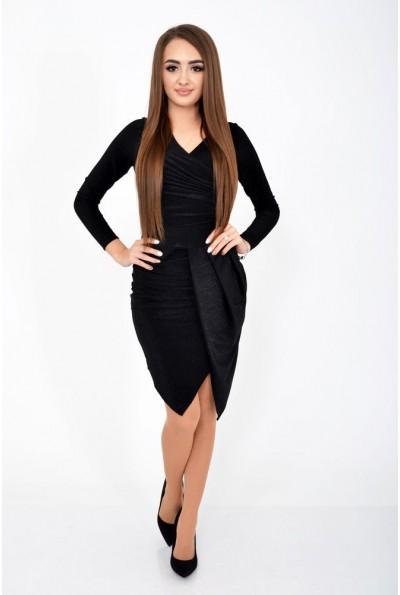 Платье женское черное, вечернее блестящее 112R011-459