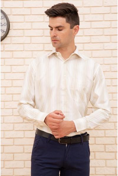 Классическая рубашка песочно-белая 9021-25 8811