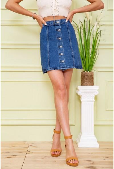 Юбка джинсовая  цвет синий 164R3021 59024