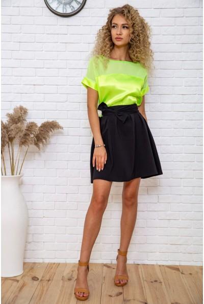 Платье  цвет черно-салатовый 167R255 60853