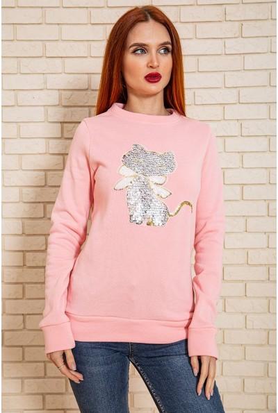 Свитшот женский 102R071-2 цвет Розовый
