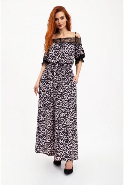 Платье 131R2950 цвет Розово-черный