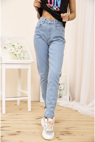 Женские джинсы МОМ цвет Голубой 164R1251