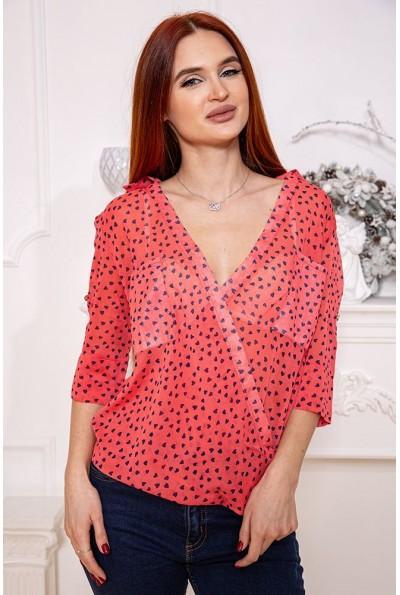 Блузка 115R222-10 цвет Красный