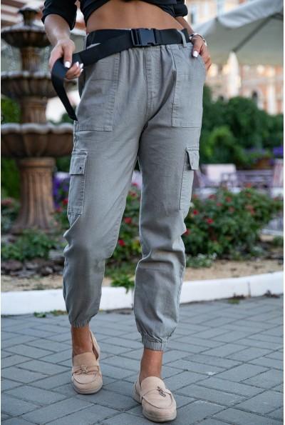 Брюки женские 149R9308-5 цвет Серый
