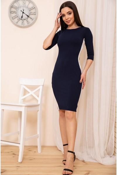 Облегающее платье с контрастными лампасами цвет Синий 167R34-3 54216