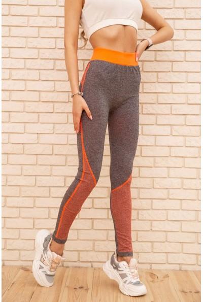 Лосины женские 129R829-4 цвет Серо-оранжевый 55307