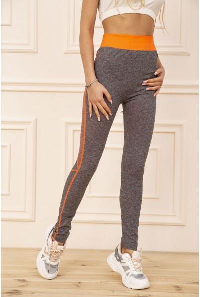 Лосины женские для спорта цвет Серо-оранжевый 129R829-7 51020