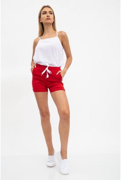 Шорты женские 119R23 цвет Красный