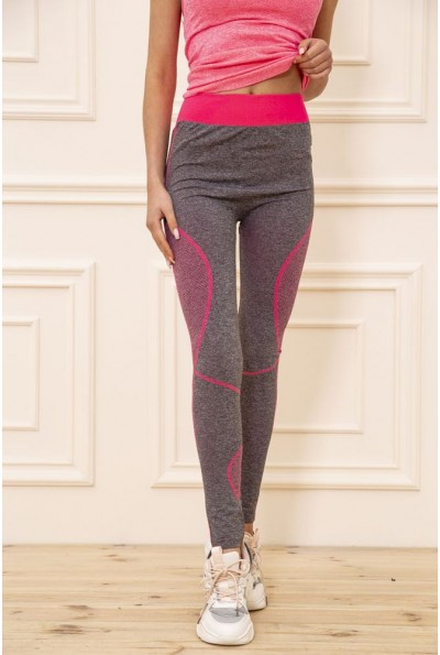 Лосины женские для спорта цвет Серо-розовый 129R829-7 51022