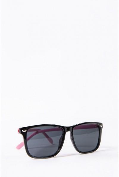 Очки  детcкие  солнцезащитные 154R2019 цвет Черно-розовый 52676