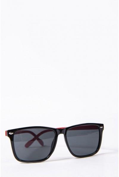Очки  детcкие  солнцезащитные 154R2019 цвет Черно-красный 52674