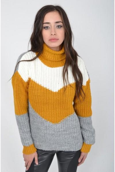 Гольф женский 103R045 цвет Желто-серый