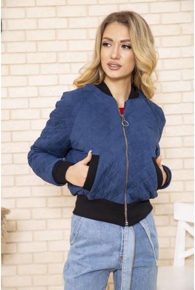 Куртка бомбер женская стеганая цвет Светло-синий 119R263 49844