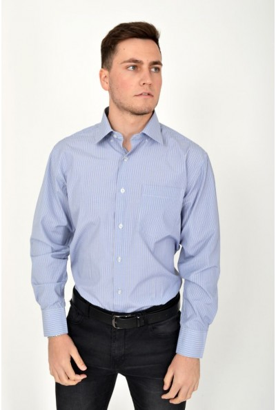 Классическая мужская рубашка сиреневая с длинными рукавами 17#LS