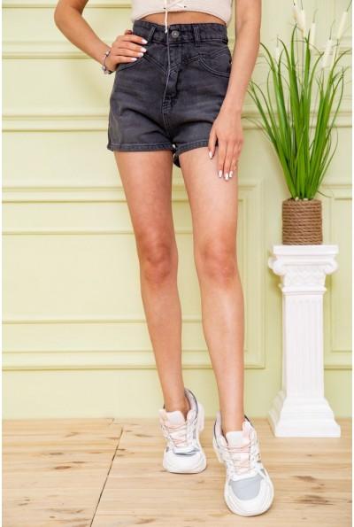 Джинсовые шорты женские 164R3358 цвет Черный 59071