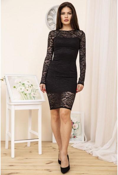Платье 167R1063-1 цвет Черный 51472