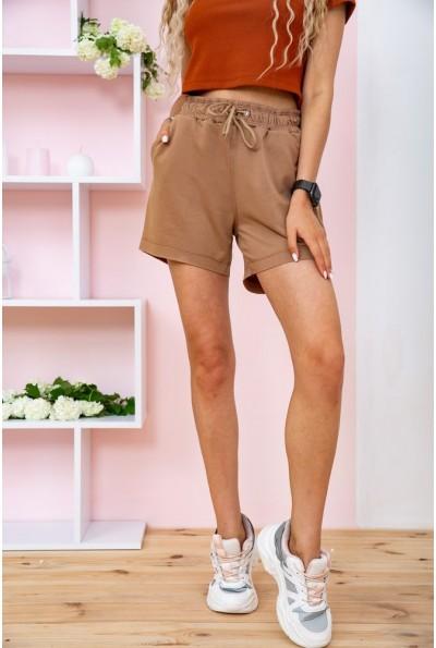 Короткие темно-бежевые шорты женские 102R203 58316