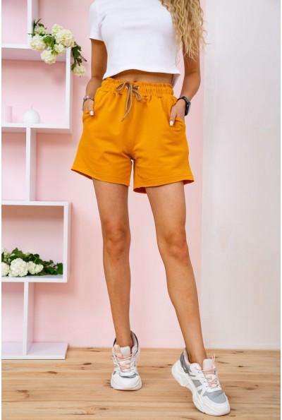 Короткие горчичные шорты женские 102R203 58284