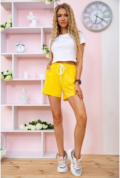 Короткие желтые шорты женские 102R203 58290