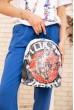 Небольшой рюкзак с пайетками цвет Черно-красный 154R003-39-2 недорого