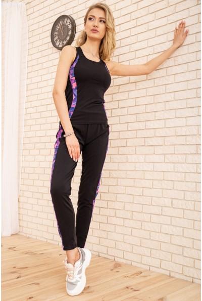 Спорт костюм женский 129R200 цвет Черно-фиолетовый 53939
