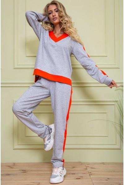 Спорт костюм женский 102R147 цвет Серо-оранжевый 60345