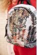 Небольшой рюкзак с пайетками цвет Бело-черный 154R003-39-2 цена 649.0000 грн
