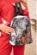 Купить Небольшой рюкзак с пайетками цвет Бело-черный 154R003-39-2