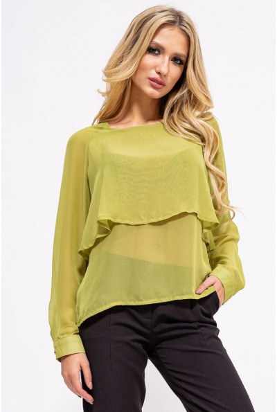 Блуза женская 115R038 цвет Светло-зеленый 13824