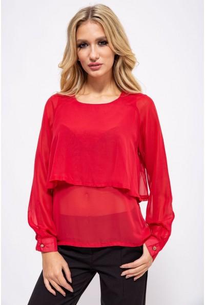 Блуза женская 115R038 цвет Красный
