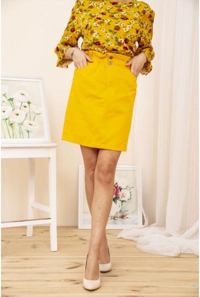 Юбка джинсовая 164R2023 цвет Темно-желтый