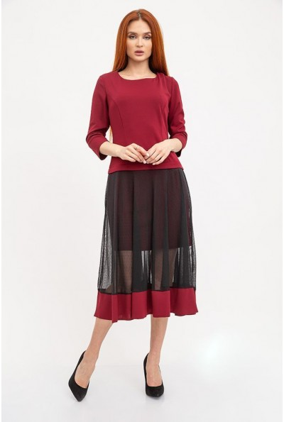 Платье женское 119R461 цвет Бордовый