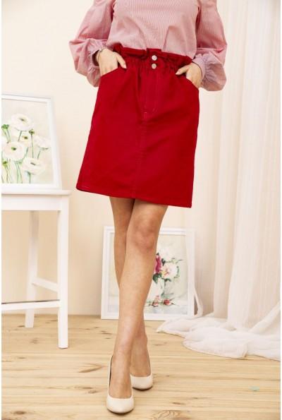 Юбка джинсовая 164R2023 цвет Красный