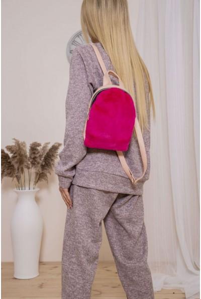 Маленький рюкзак с мехом цвет Малиновый 154R003-17-1 46819